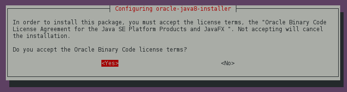 Oracle Java 8 - Accept Binary License