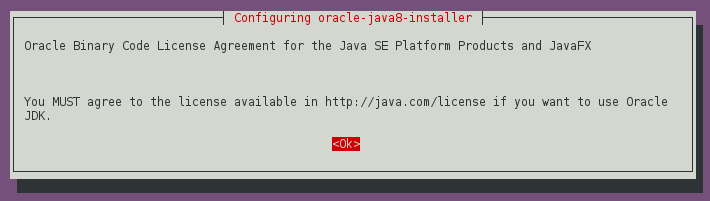 Oracle Java 8 - Accept License