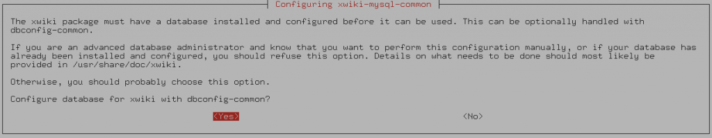 Configure with dbconfig-common